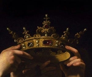 art, crown, and Queen image