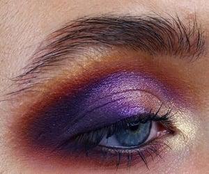 eye, make up, and purple image