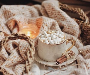 autumn, candle, and chocolate image