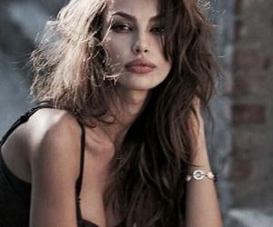 brunette, hair, and model image