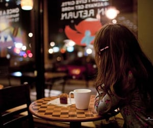 girl, cafe, and hair image