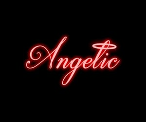 black, red, and angel image