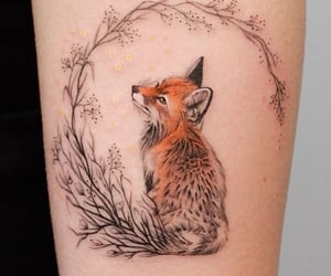fox, tattoo, and ink image