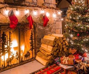 christmas and fireplace image
