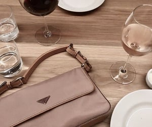 bag, drink, and Prada image