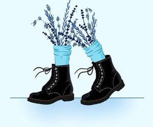 art, blue, and boots image