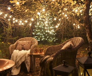 cozy, garden, and light image