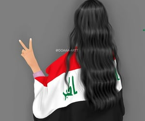 beauty beautiful, black white colours, and save the iraqi people image