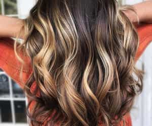 balayageombre and fall hair color image