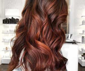 fall hair and autumn hair color image