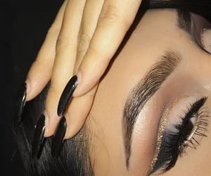 beauty, eyeliner, and eyebrow image