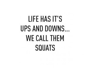 squats, fitness, and life image