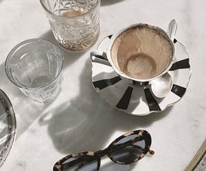 coffee, drinks, and sunglasses image