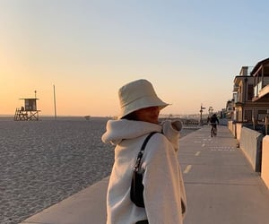 beach, fashion, and outfit image