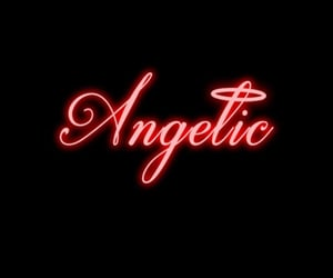 angel, black, and red image