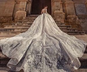 bride, fashion, and wedding image