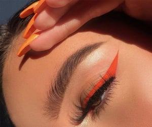 beauty, eyeliner, and orange image