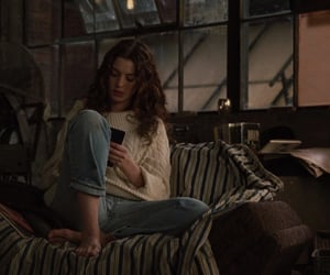 girl, Anne Hathaway, and book image