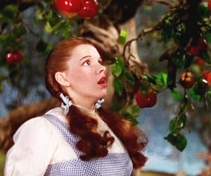 dorothy, apple, and judy garland image