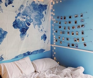 aesthetic, blue, and bedroom image