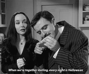 black and white, gomez, and Halloween image