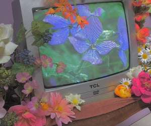 aesthetic, flowers, and 90s image