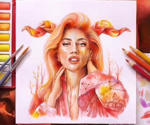 art, beautiful, and drawings image