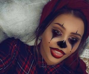 clown and halloween makeup image