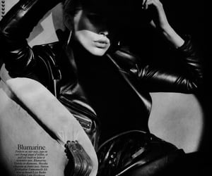 black, womenswear, and leather image