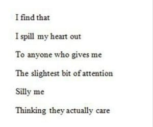 quotes, sad, and attention image