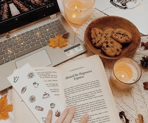 autumn, book, and candle image