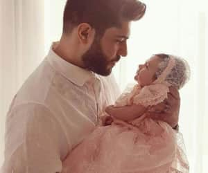 baby, cute, and fatherhood image