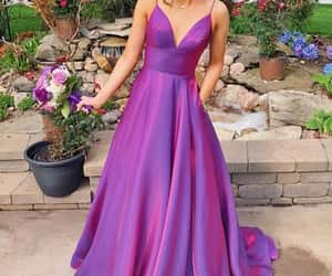 evening dress, girl, and party dress image