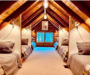 interior, bedroom, and cabin image