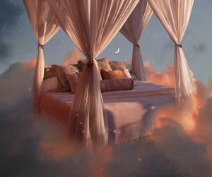 clouds, aesthetic, and bed image