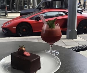car, luxury, and food image