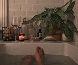 aesthetic, bath, and wine image