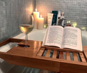 book, aesthetic, and bath image