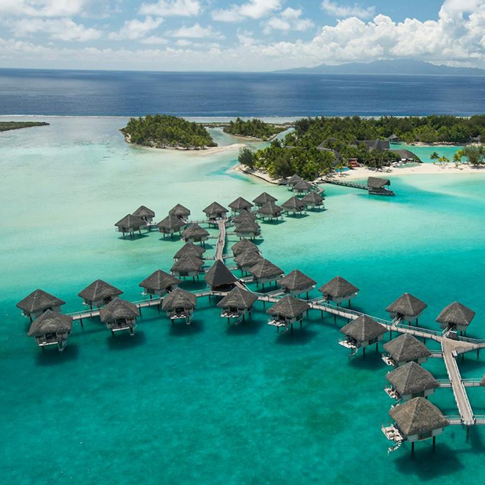 These Spectacular Over The Water Bungalows At Le Meridien