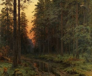 autumn, forest, and painting image