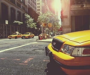 taxi, new york, and yellow image
