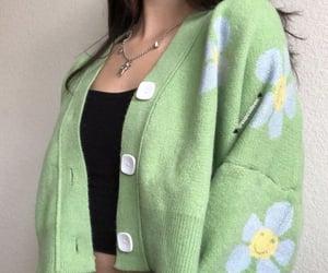 cardigan, green, and moda image