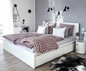 bed, bedroom, and house design image