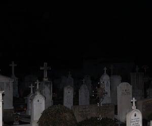 dark, cemetery, and theme image