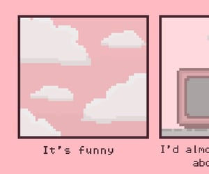 pink, pixel, and quotes image