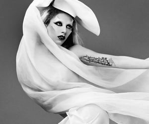 black and white, born this way, and Lady gaga image