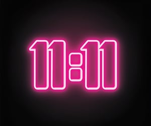 neon, numbers, and pink image