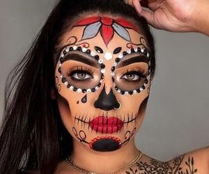 calavera, Halloween, and make up image