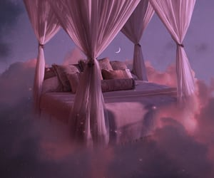 bedroom, clouds, and fantasia image