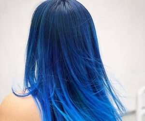 hair, hairstyle, and blue hair image